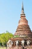 Pagoda in vecchia città di Sukhothai Immagine Stock