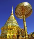 Pagoda vieja en Chiang Mai, Tailandia foto de archivo libre de regalías