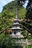 Pagoda in vietnamese temple Royalty Free Stock Images