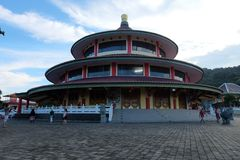 Pagoda Vihara Puri tri Agung, Sungailiat - Belitung del Bangka fotografia stock