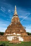 Pagoda w Ayutthaya Dziejowym parku fotografia royalty free