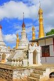 Pagoda W Inle jeziorze, Myanmar Obraz Stock