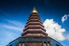 Pagoda w Phu-tok, północny-wschód Tajlandia Obrazy Stock