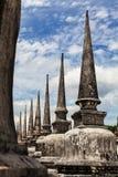 Pagoda w Wat Mahathat, Tajlandia Zdjęcie Royalty Free