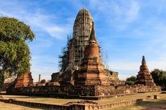 The Pagoda was Closed for Repairs in King Borommarachathirat II of the Ayutthaya Kingdom Stock Photos