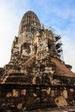The Pagoda was Closed for Repairs in King Borommarachathirat II of the Ayutthaya Kingdom Stock Photo