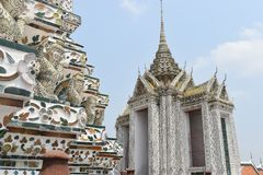 Pagoda wat arun Bangkok Thailand, one of most famous temple in Thialand royalty free stock images