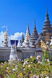 Pagoda at Wat Ban den Temple Stock Photos