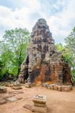 Wat Banan temple, Battambang. Pagoda of the Wat Banan old Khmer civilization temple, Cambodia stock photography