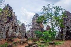 Wat Banan temple, Battambang. Pagoda of the Wat Banan old Khmer civilization temple, Cambodia stock image