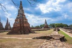 Pagoda of Wat Chai Wattanaram Stock Photography