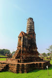 Pagoda at Wat Chaiwattanaram Temple, Ayutthaya, Thailand Royalty Free Stock Photos