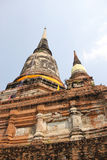 Pagoda at Wat Chaiwattanaram Temple, Ayutthaya, Thailand Royalty Free Stock Images