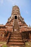 Pagoda a Wat Chaiwatthanaram Fotografie Stock Libere da Diritti