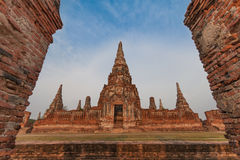 Pagoda at Wat Chaiwatthanaram, Ayutthaya province Stock Images