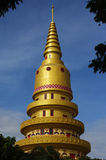 Pagoda of Wat Chaiyamangalaram. The Pagoda of the Thai influenced Buddhist Temple known as Wat Chaiya in Penang,Malaysia Royalty Free Stock Photo