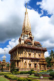Pagoda in Wat Chalong or Chaitharam Temple, Phuket, Thailand. Royalty Free Stock Images