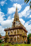 Pagoda in Wat Chalong o tempio di Chalong, Phuket Tailandia Fotografia Stock Libera da Diritti
