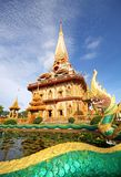 Pagoda in wat chalong phuket. Naga and Pagoda in wat chalong phuket thailand Stock Image