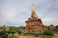 Pagoda of Wat Chalong in Phuket Royalty Free Stock Photo