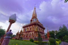 Pagoda in wat chalong phuket, THAILAND Royalty Free Stock Images