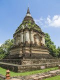 Pagoda at Wat Jed Yod, Chiangmai Thailand Royalty Free Stock Photography