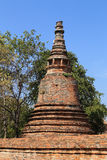 Pagoda at Wat Mahaeyong, the ruin of a Buddhist temple in the Ay Royalty Free Stock Photo