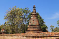 Pagoda at Wat Mahaeyong, the ruin of a Buddhist temple in the Ay Stock Photo