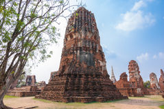 Pagoda in Wat mahathat Stock Image