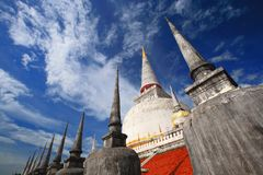 Pagoda in Wat Mahathat temple Thailand Royalty Free Stock Photography