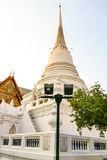 Pagoda Wat Pathum Wanaram. The beautiful white pagoda is located in the temple Royalty Free Stock Images