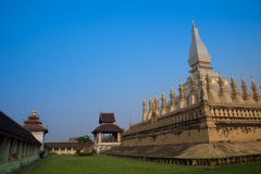 Pagoda Wat Pha-That Luang Vientian Royalty Free Stock Photo