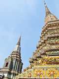 Pagoda at Wat Pho in Bangkok , Thailand Royalty Free Stock Photos