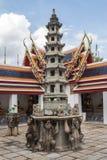 Pagoda is in Wat Pho Bangkok Thailand Stock Photography