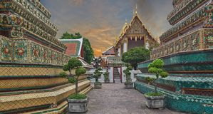 Pagoda, Wat Pho stock images