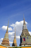 Pagoda in wat pho temple Royalty Free Stock Photography