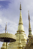 The pagoda in Wat Phra Boromthat. tample in Tak Province,Thailan Stock Images