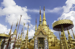 The pagoda in Wat Phra Boromthat. tample in Tak Province,Thailan Royalty Free Stock Image