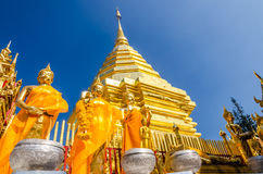 Pagoda at Wat Phra That Doi Suthep Royalty Free Stock Photo
