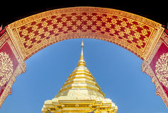 Pagoda at Wat Phra That Doi Suthep Royalty Free Stock Images