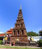 Pagoda in Wat Phra That Hariphunchai at Lamphun north of Thailan Royalty Free Stock Image