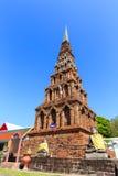 Pagoda in Wat Phra That Hariphunchai at Lamphun north of Thailan Stock Image