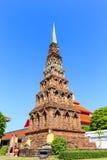 Pagoda in Wat Phra That Hariphunchai at Lamphun north of Thailan Stock Photos