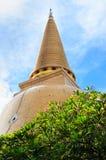 Pagoda Wat Phra Pathom Chedi Image libre de droits