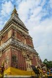 Pagoda in Wat Phra That Renu Nakhon Fotografia Stock Libera da Diritti