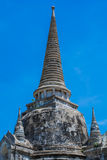 Pagoda at Wat Phra Si Sanphet, Ayutthaya Thailand. Stupa Ayutthaya on the blue sky, Thailand royalty free stock images