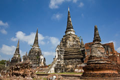 Pagoda at Wat Phra Sri Sanphet Stock Photography