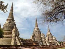 Pagoda at Wat Phra Sri Sanphet. 3 pagodas at Wat Phra Sri Sanphet, Ayutthaya, Thailand royalty free stock photography