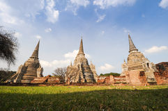 Pagoda at wat phra sri sanphet. Temple, Ayutthaya, Thailand Royalty Free Stock Photo
