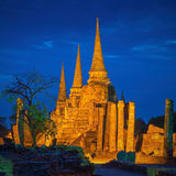 Pagoda at Wat Phra Sri Sanphet Temple is world heritage. Stock Photos